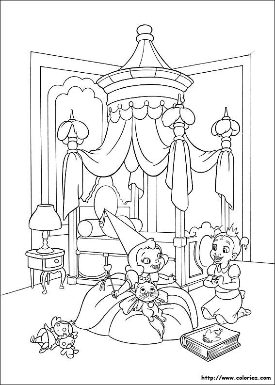 Coloriage coloriage de charlotte et tiana - Coloriage la princesse et la grenouille ...