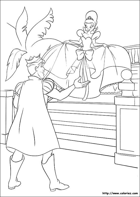 Coloriage coloriage de l 39 invitation au bal masqu - Coloriage la princesse et la grenouille ...