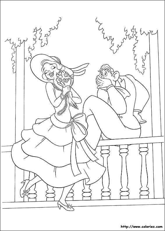 Coloriage coloriage de charlotte sous le charme - Coloriage la princesse et la grenouille ...
