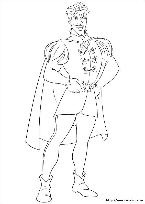 Prince coloriage - Prince et princesse dessin ...