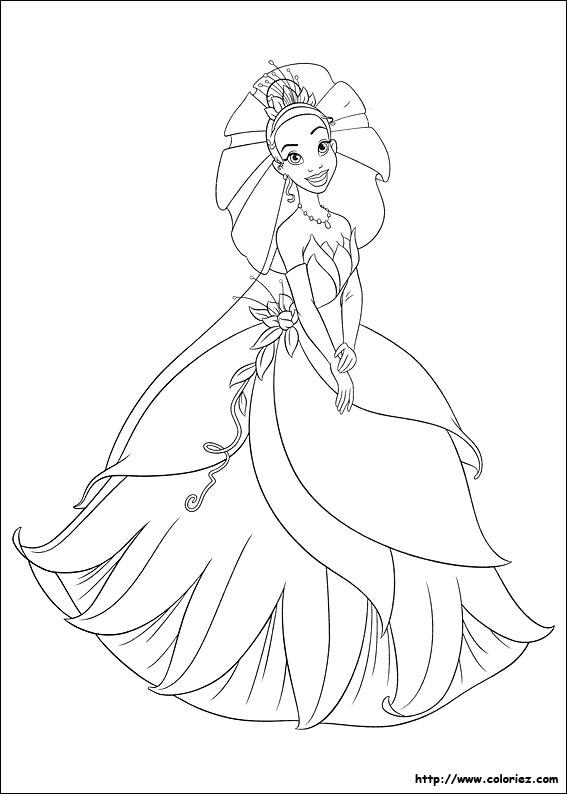 Coloriage coloriage princesse tiana - Coloriage la princesse et la grenouille ...