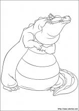 Coloriage de Louis le crocodile