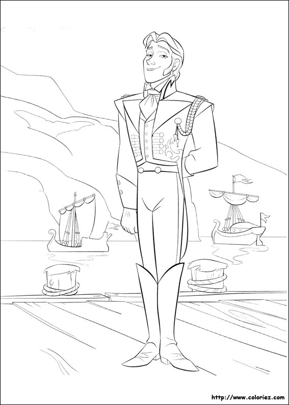 Disney Frozen Coloring Pages Hans : Coloriage hans