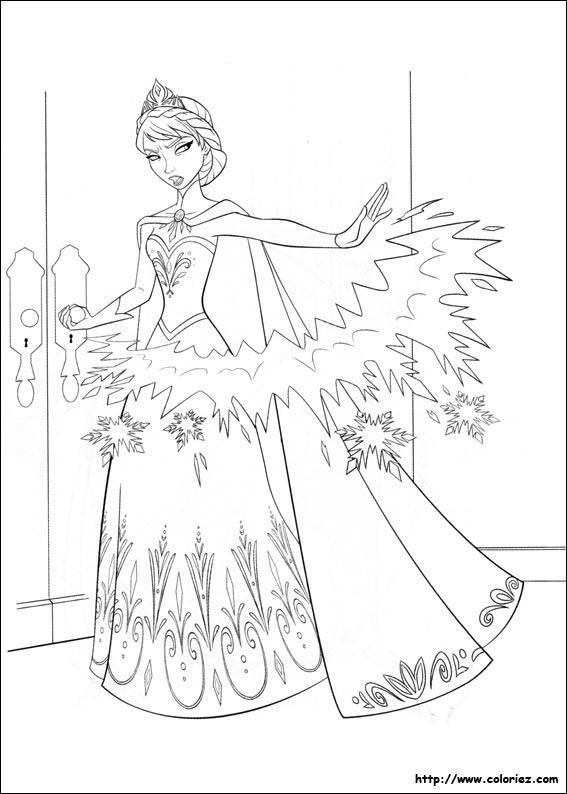 Coloriage elsa furieuse - La reine des neige a imprimer ...
