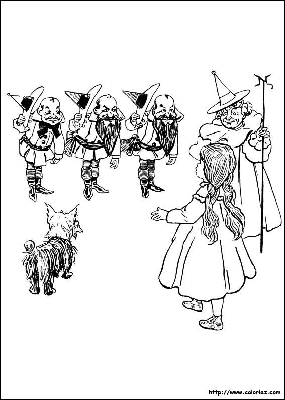 Coloriage coloriage des quatre tranges hommes - Coloriage le magicien d oz ...