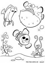 les coloriages le monde de nmo - Coloriage Nemo