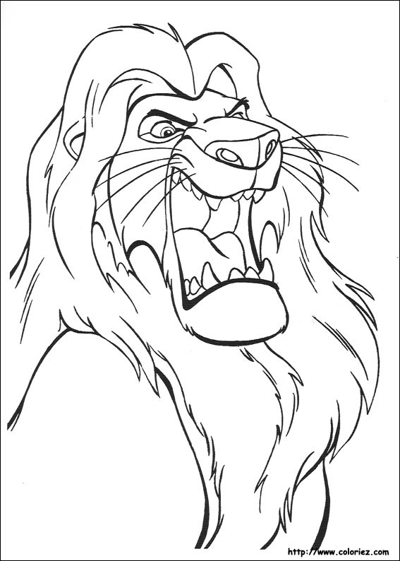 Coloriage le roi mufasa - Coloriages lion ...