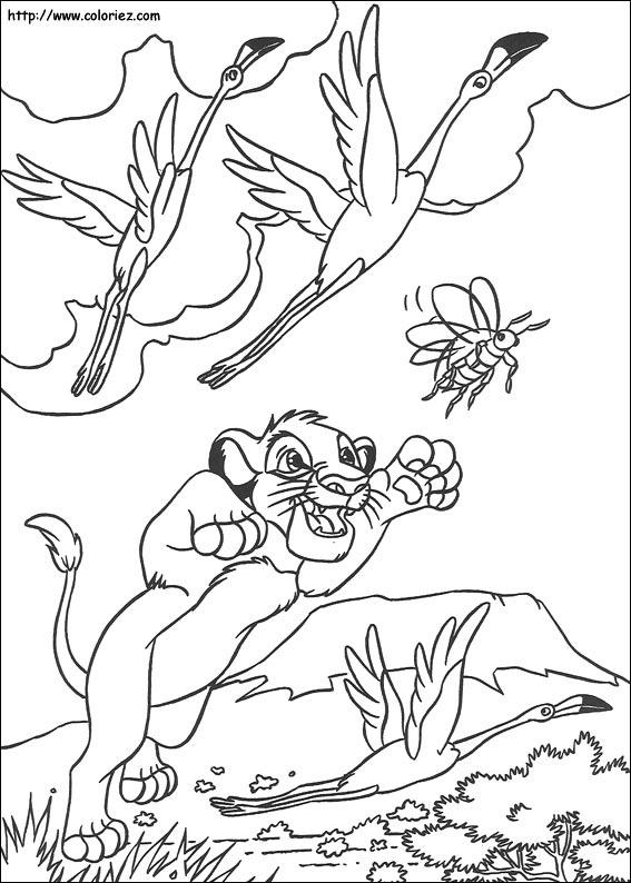 Coloriage akuna matata simba - Dessin simba roi lion ...