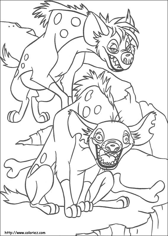Coloriage les hy nes - Coloriages lion ...