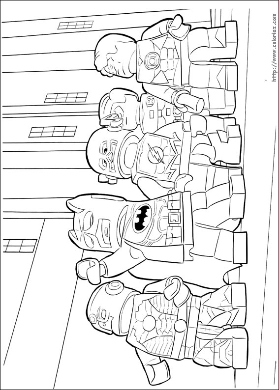 Coloriage la ligue lego batman - Coloriage batman ...
