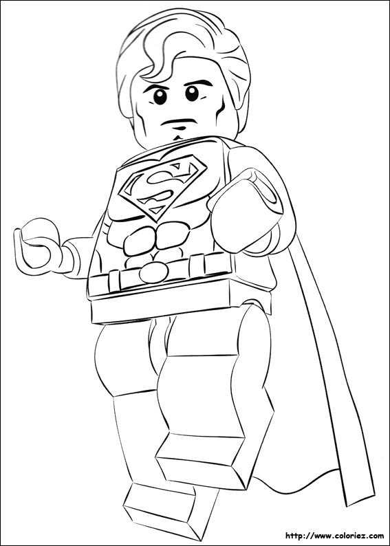 Coloriage lego superman - Coloriage en ligne superman ...