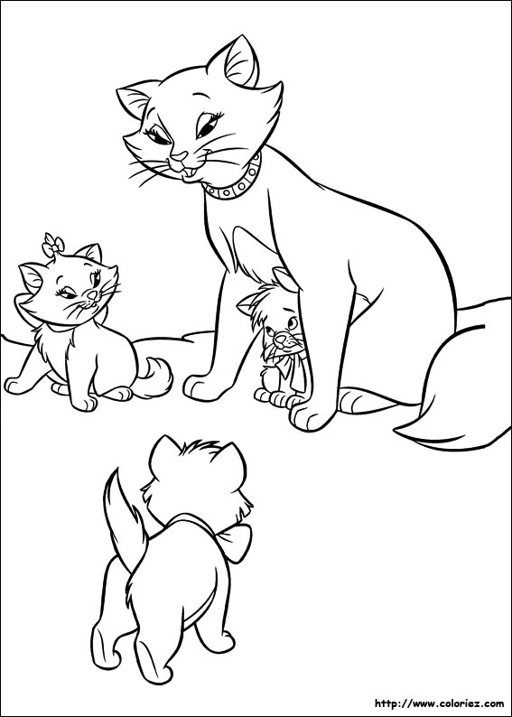 Coloriages Des Aristochats