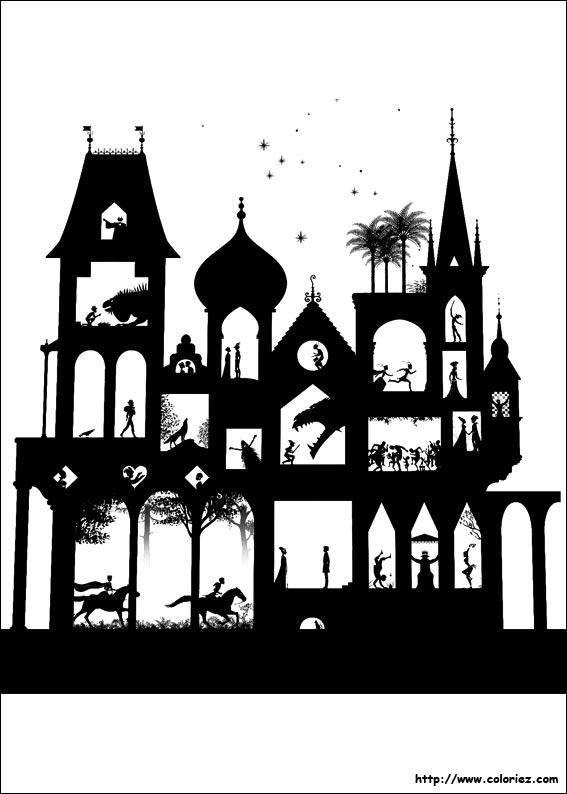 Coloriage les contes de la nuit 4 - Coloriage de conte ...