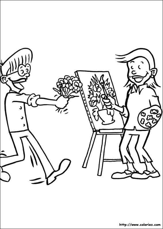 Coloriage le bouquet de fleurs - Les fleurs coloriage ...