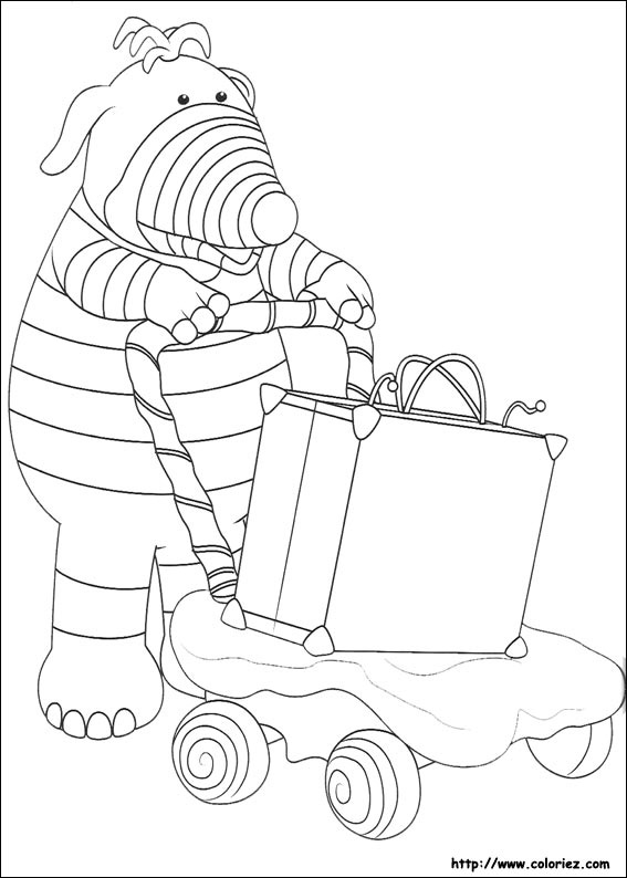 Coloriage la trotti poussette porte valise - Dessin de valise ...