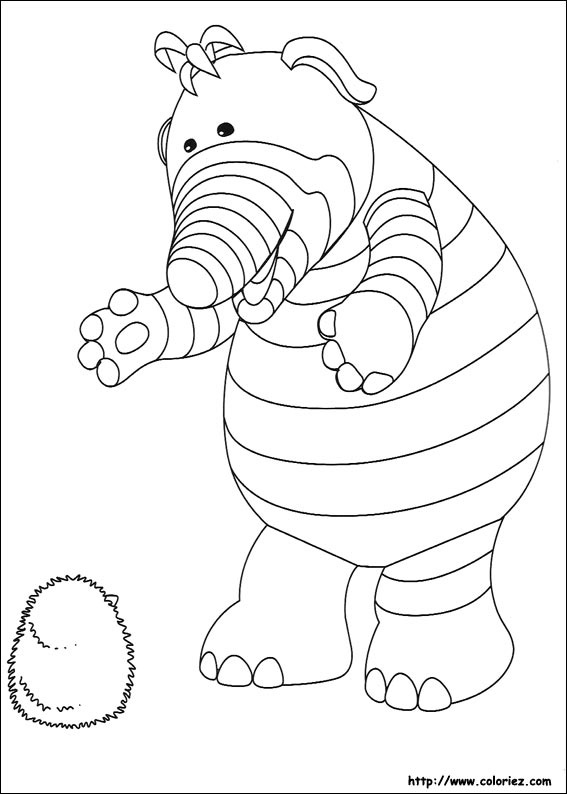 pom pom coloring pages - coloriage baby pom joue avec ribble