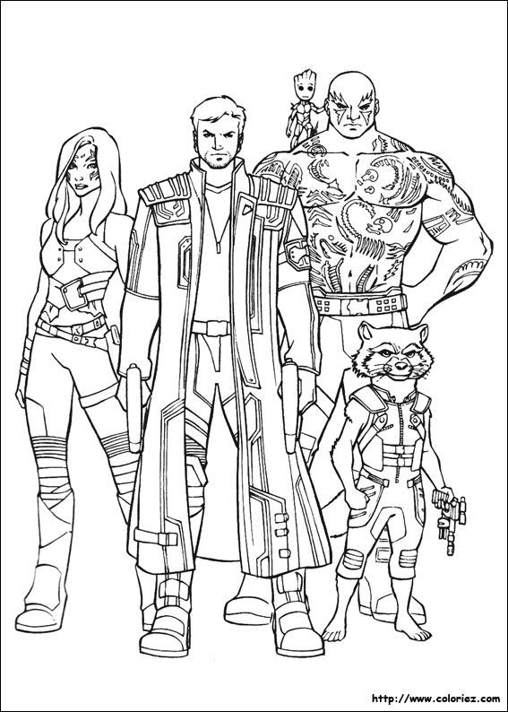Coloriage gardiens de la galaxie 21 - Dessin gardien de but ...