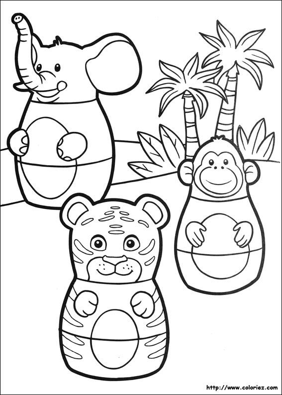 Coloriage les animaux du zoo d 39 higglyville for Higglytown heroes coloring pages