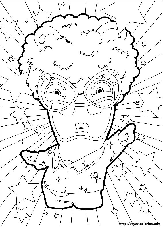 Coloriage lapin disco - Coloriages lapins ...