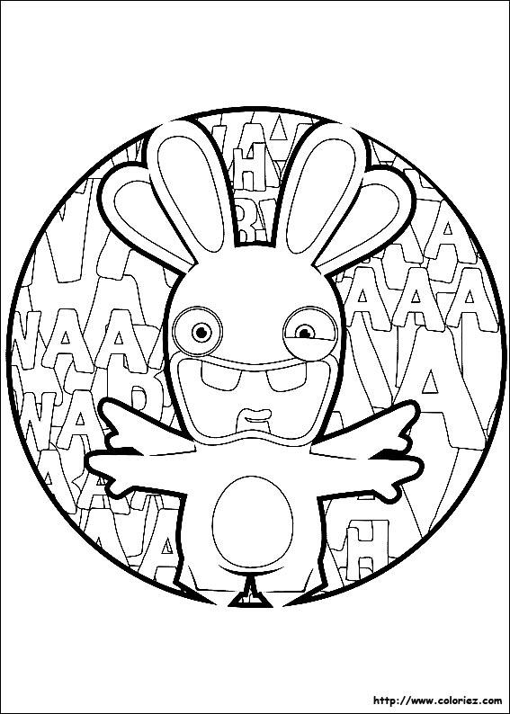 Coloriage lapin anatomique - Lapin cretin a imprimer ...