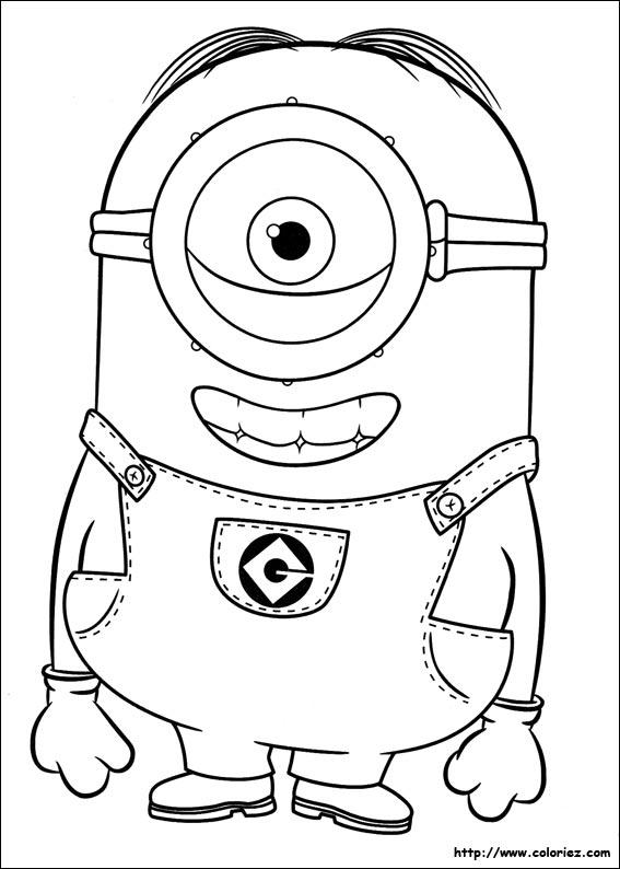 Coloriage Facile Minion.Index Of Images Coloriage Les Minions