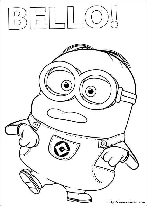 dessin a imprimer minion