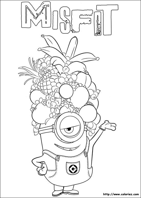 dingue de fruits - Dessin Minion