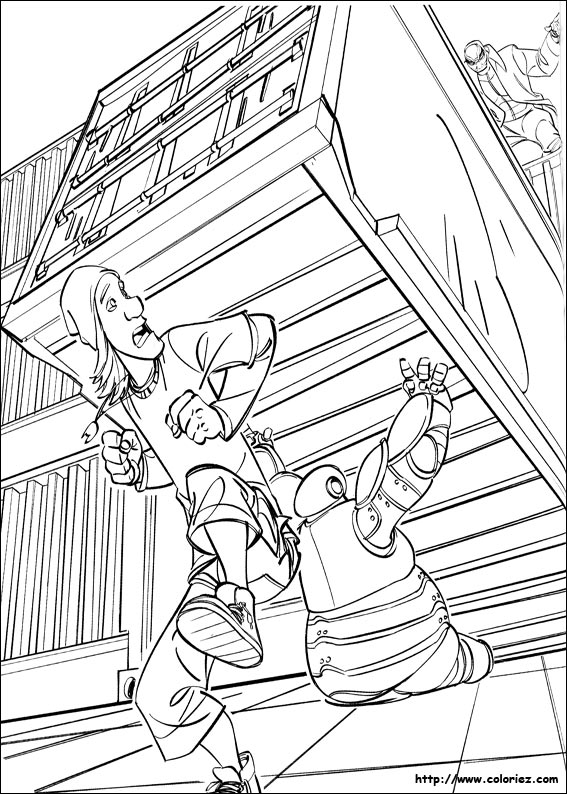 Coloriage baymax utilise sa force - Coloriage heros ...