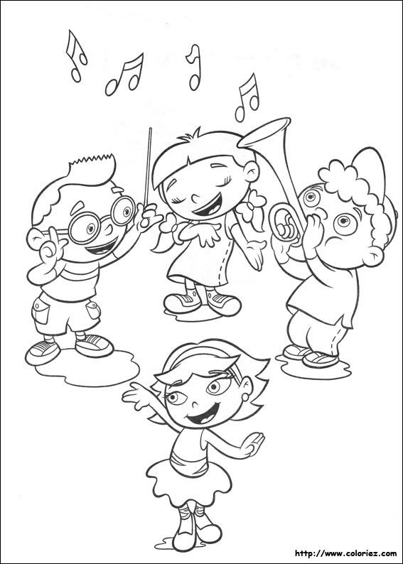 Coloriage les petits einstein aiment la musique - Chorale dessin ...