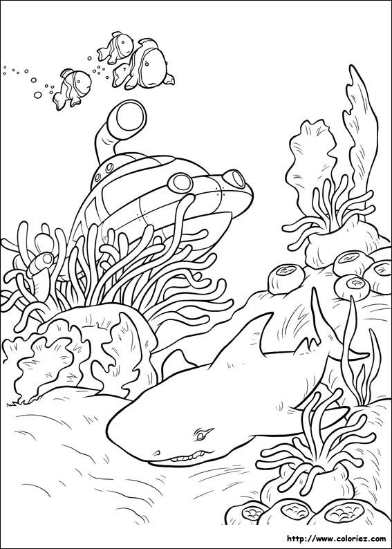 Coloriage Fusee Et Le Requin
