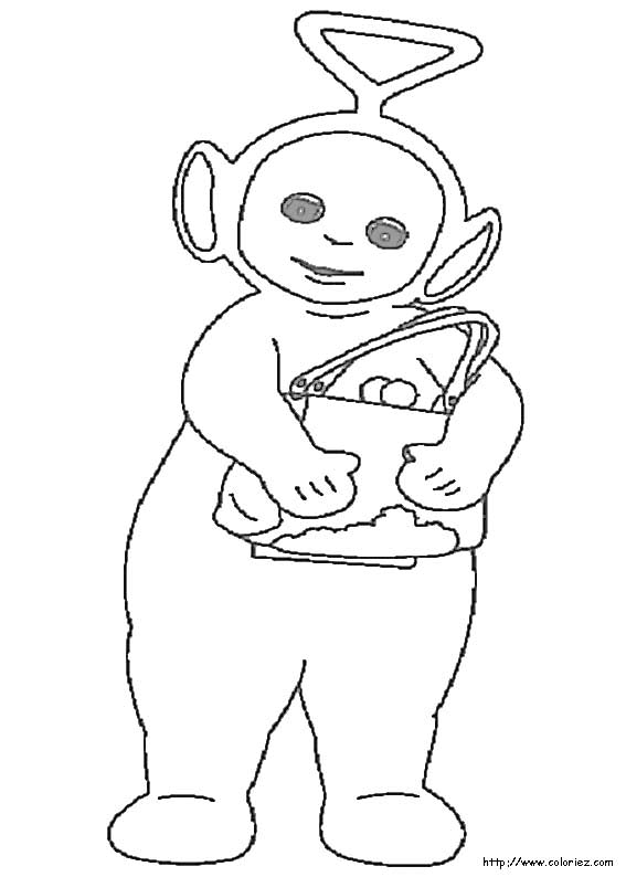 Tinky Winky Coloring Pages Coloriage-les-teletu