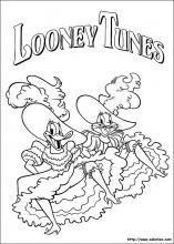 Coloriage de French Cancan des Looney Tunes