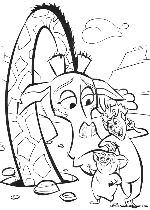 Coloriage le conseil for King julian coloring pages