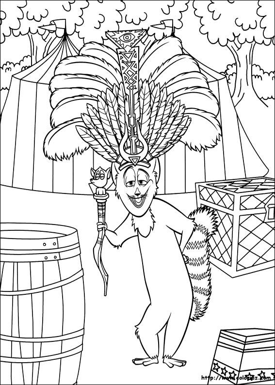 Dorable Madagascar King Julian Coloring Pages Sketch - Examples ...