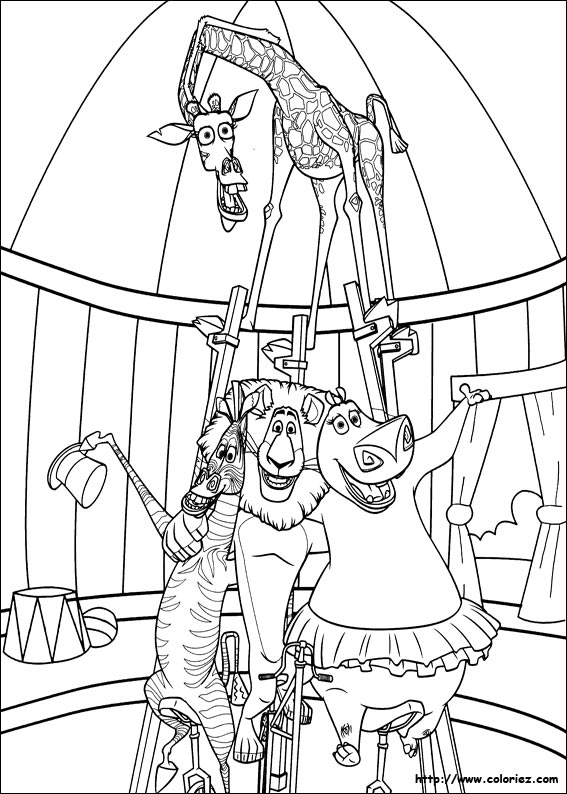 madagascar afro circus coloring pages - photo#1