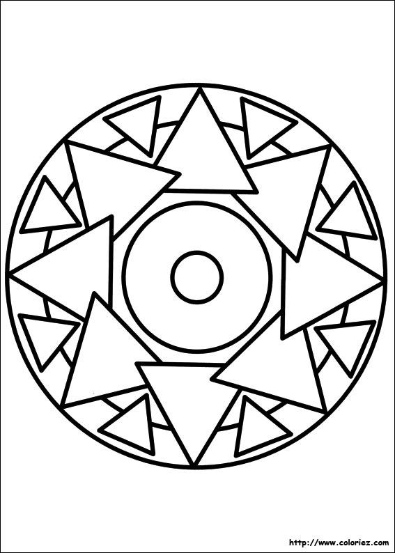 coloriage mandala triangles