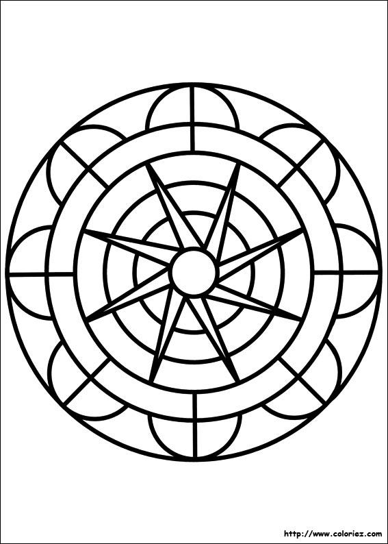 coloriage mandala tournesol - Dessin De Mandala