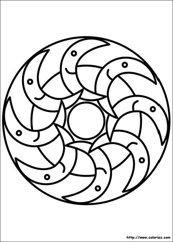 COLORIAGE - Coloriage mandala lunes