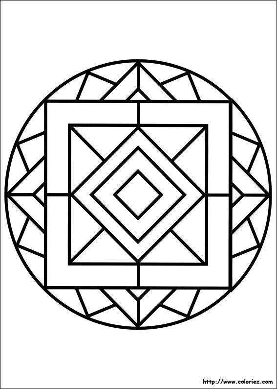 coloriage mandala carrs - Dessin De Mandala
