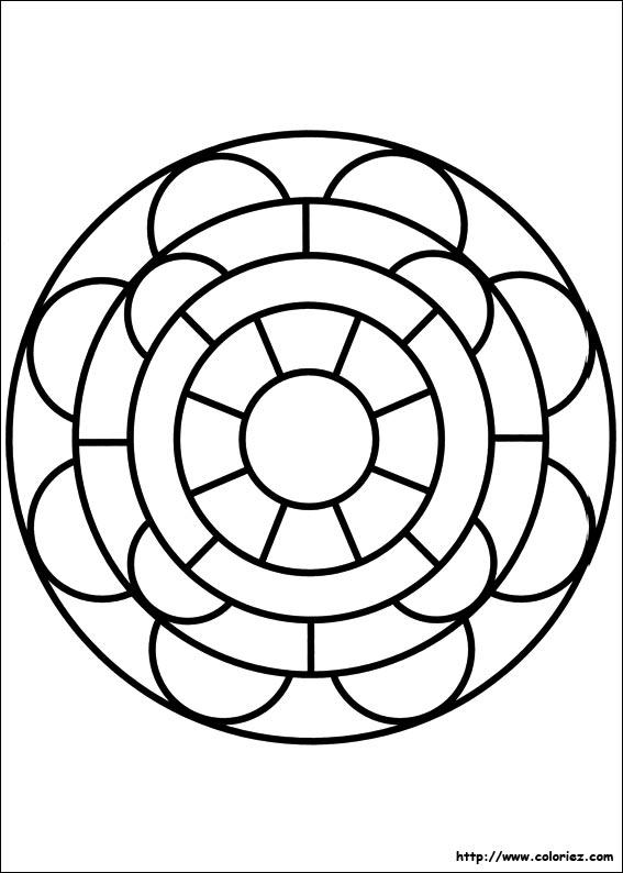 Coloriage Mandala Maternelle A Imprimer Gratuit.Coloriage204 Coloriage Mandala Facile