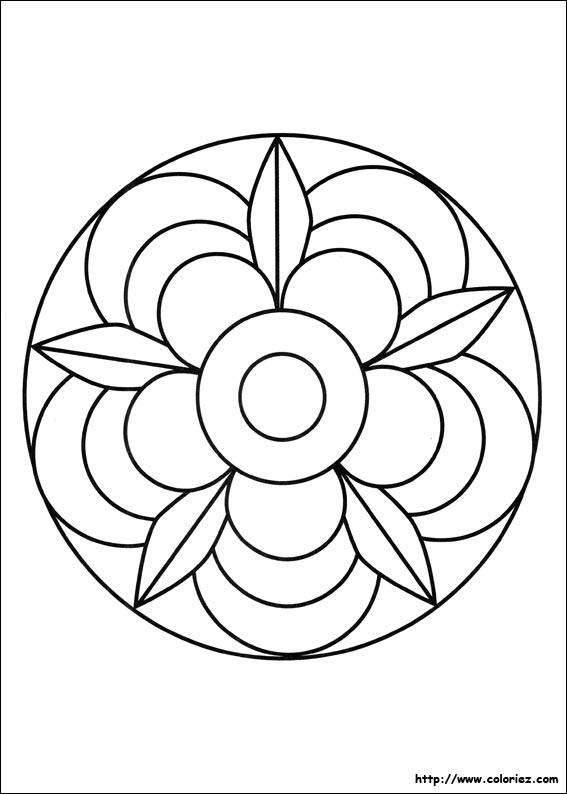mandala fleur - Dessin De Mandala