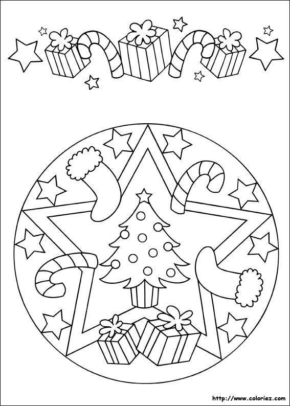 Un joli mandala pour préparer les décorations de noël