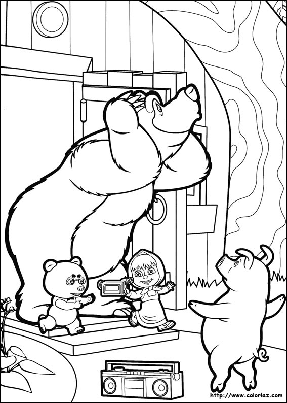 Coloring Painting Bear