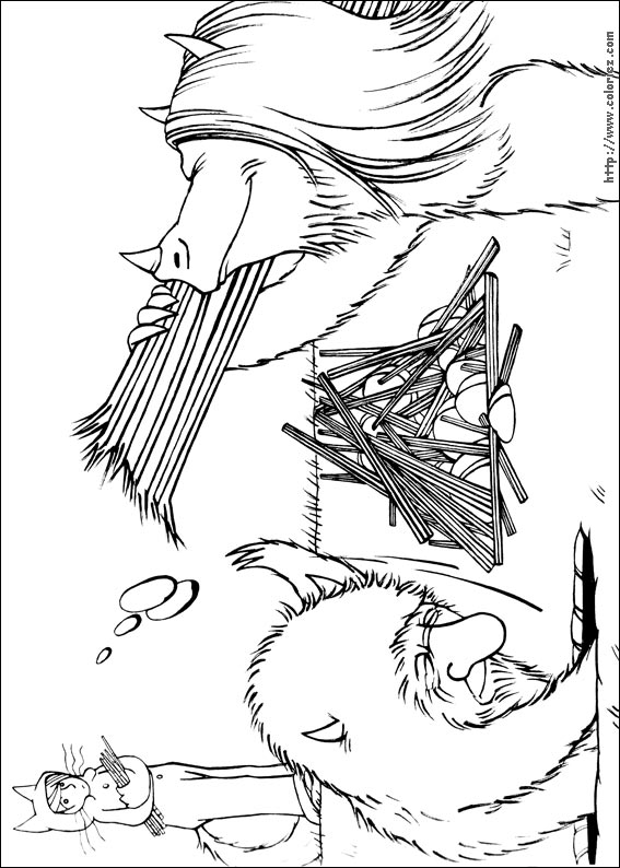 Coloriage coloriage de la construction du fort for Where the wild things are coloring page