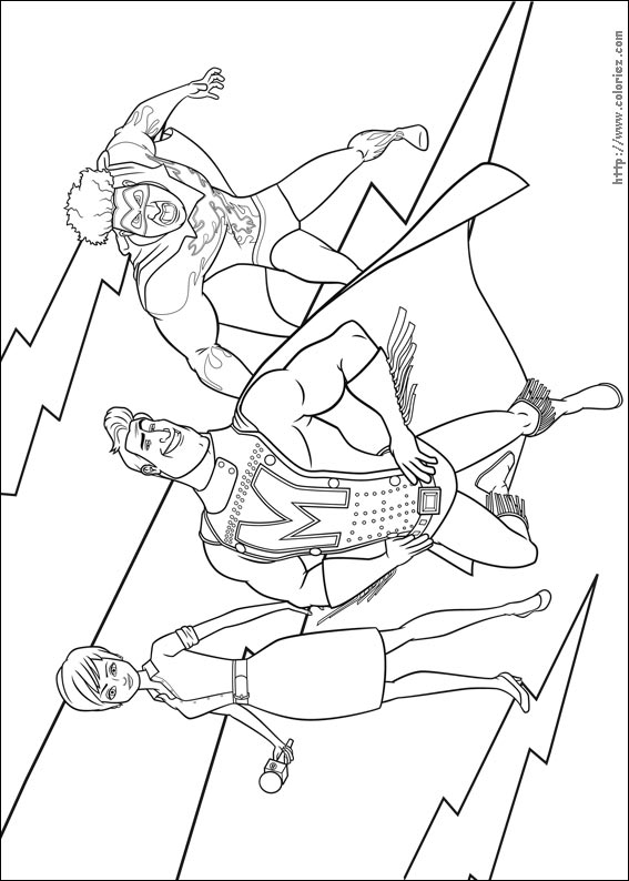 Coloriage coloriage de metro man roxane et titan for Megamind coloring pages