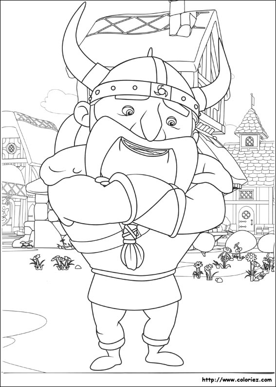 Coloriage le viking - Chateau de mike le chevalier ...