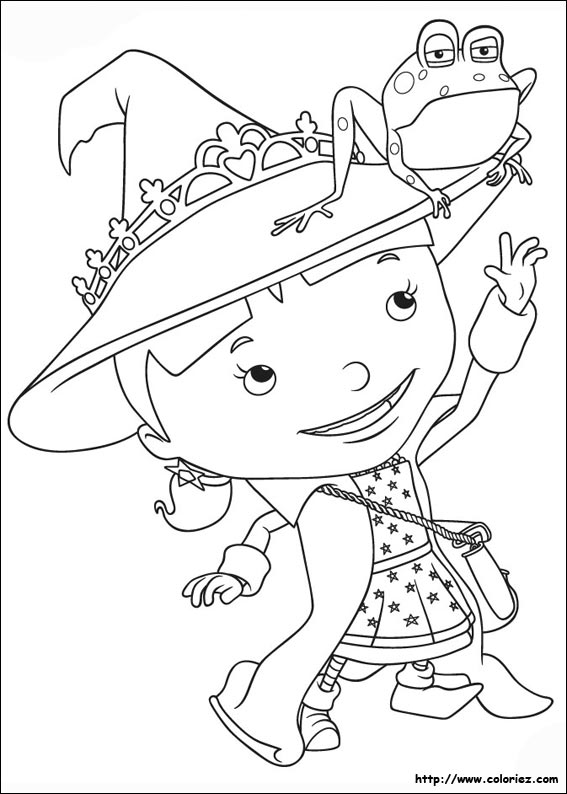 Coloriage elvie la petite sorci re - Coloriage mike le chevalier ...