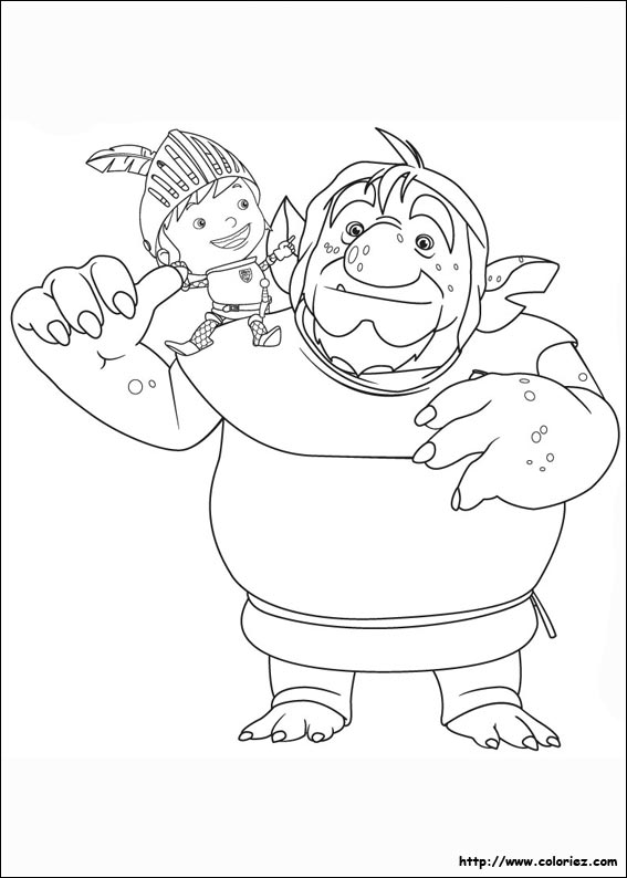 Coloriage mike et patroll - Coloriage mike le chevalier ...