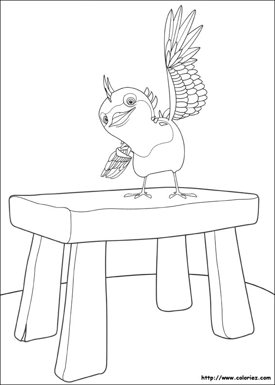 Coloriage l 39 oiseau de mike - Coloriage mike le chevalier ...