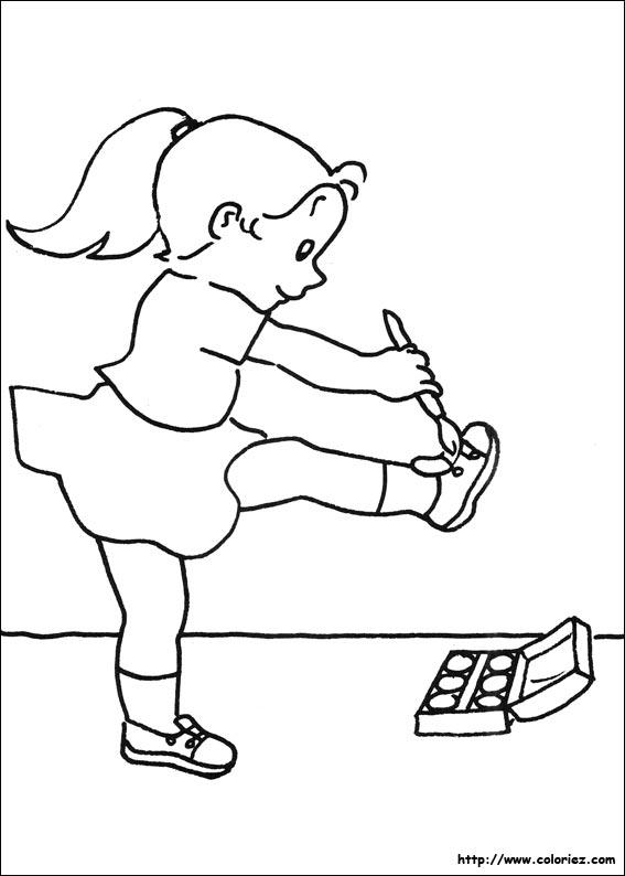 coloriage mimi cracra peind ses souliers. Black Bedroom Furniture Sets. Home Design Ideas